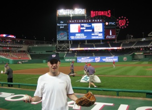 Zack at Nationals Park with his 28th (!!!) Ball of the Day