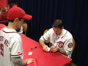 Doug Fister at NatsFest.  Doug throws right, bats left, and writes left.