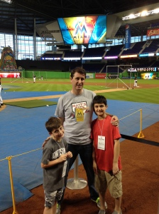 Me, my brother and dad at Marlins Park
