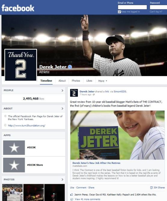 JeterFacebook