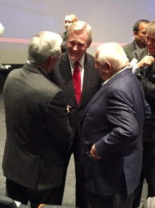 Secretary of Navy Ray Mabus with Bobby Valentine and Tommy Lasorda