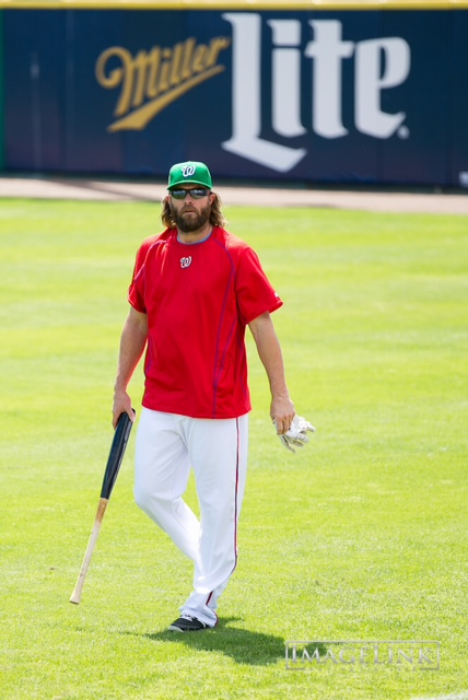 Jayson Werth in the green St. Patrick's Day cap.