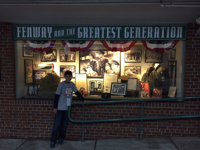 One of the museum-like displays around Fenway Park.