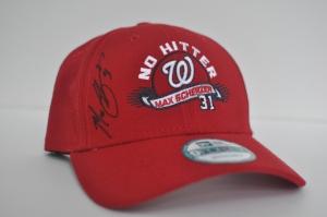 "Max Scherzer Autographed ""No Hitter"" Cap"